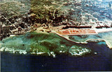 写真:和泊港周辺の航空写真