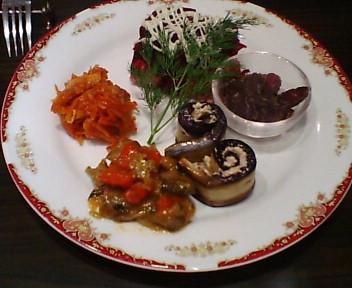 ロシア料理のもりあわせ