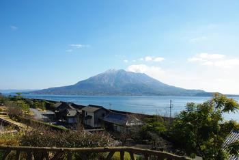 仙巌園から写した桜島