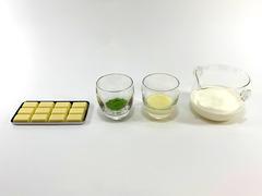 抹茶×ホワイトチョコのムースの作り方(材料)