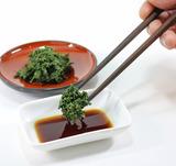 玉露の葉をお刺身のように、醤油やポン酢につけて食べてみてください