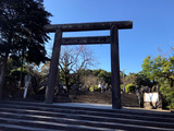 「境内茶屋なんしゅう」南洲神社の鳥居