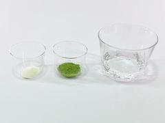 抹茶ゼリードリンクの作り方(材料1)