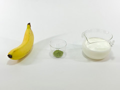 「緑茶×バナナ」ドリンクの作り方(材料)