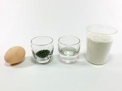 新茶ボーロの作り方(材料)