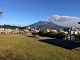 「境内茶屋なんしゅう」桜島の眺めも最高です