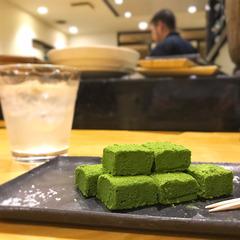 「蘇麻HANARE」で濃厚な抹茶生チョコをおつまみに♪