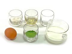 抹茶カスタードクリームの作り方(材料)
