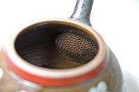 陽窯・陶器製の茶漉し