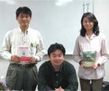 ポパイと飯田先生とオリーブです。飯田先生ありがとう。
