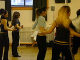 juna in dance class