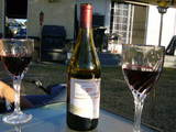 wine in jen's yard