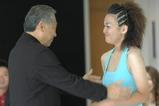 machiko receiving diploma