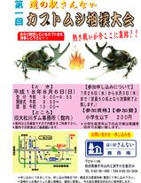 カブトムシ相撲大会