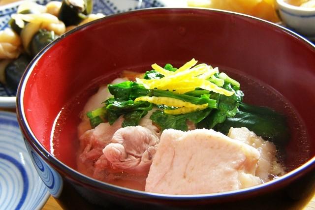地鶏の鶏ガラスープで作ったお雑煮