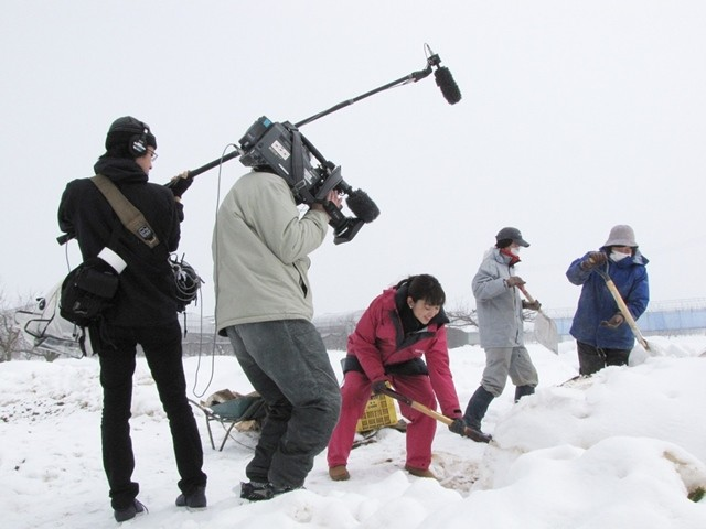 雪下大根の取材