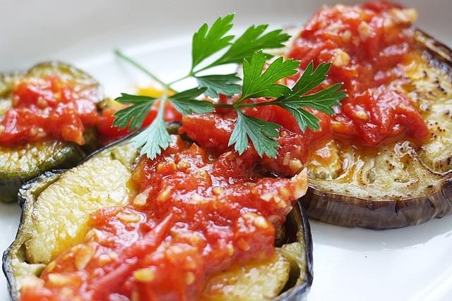 茄子のステーキトマトソース