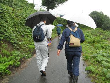 雨の中でも歩きます
