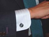 ストライプ刺繍カフスボタン3