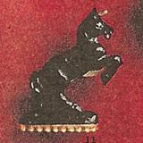 東洋/ブラックアイボリー彫刻カフス