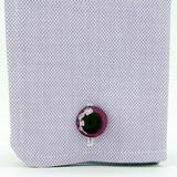 アップルコア・インタリオ 薔薇 紫 カフス