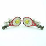 テニスラケットカフリンクス