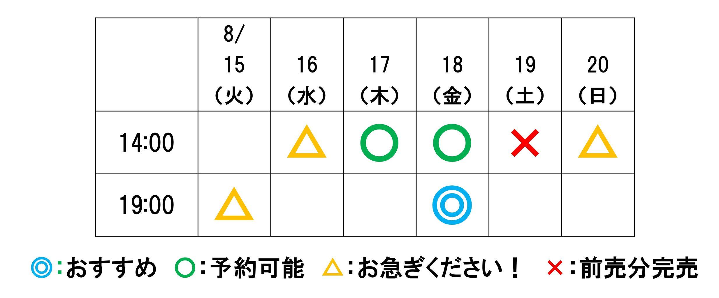 かあちゃんチケット8月9日