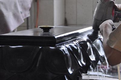 黒御影石手磨き