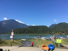 my kayak on Pitt Lake