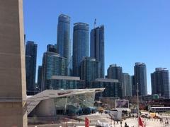 buildings beside CN Tower