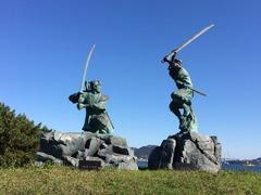 巌流島決闘彫像1