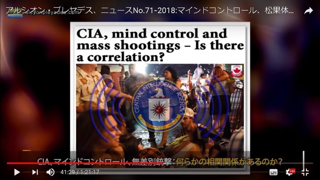 CIAマインド・コントロール無差別銃撃