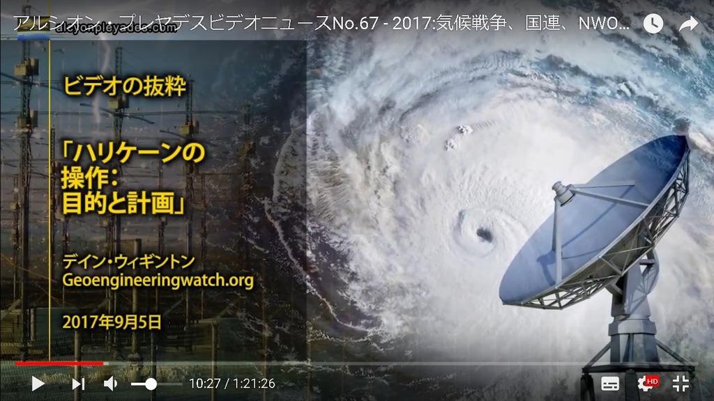 気象兵器ハリケーンの操作と目的