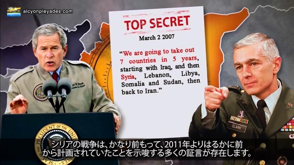 シリア戦争計画ブッシュ政権