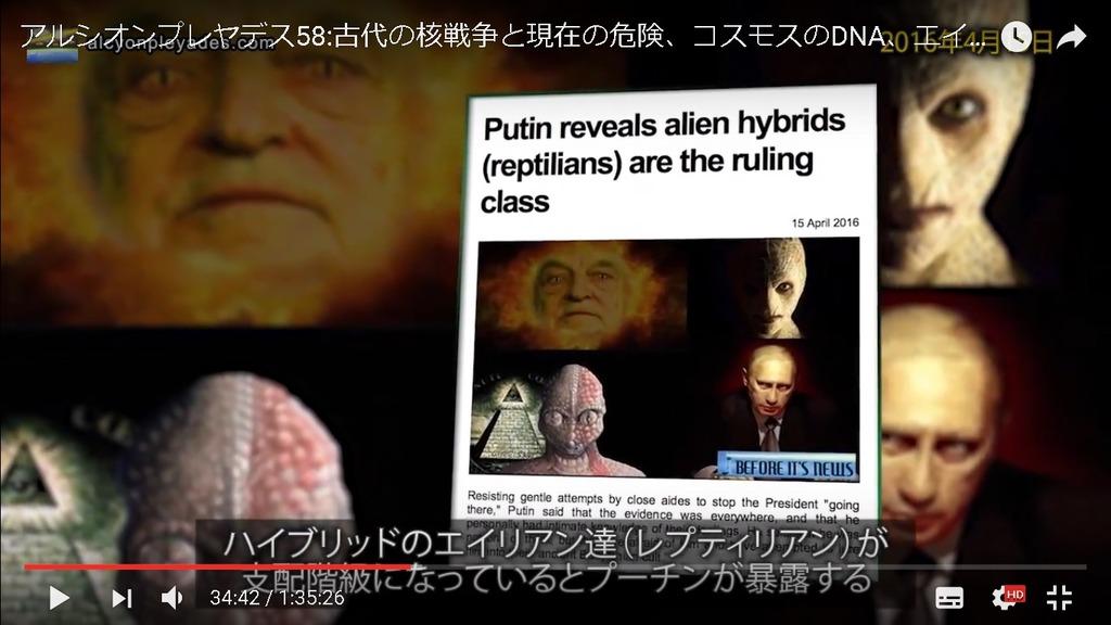 爬虫類人プーチン