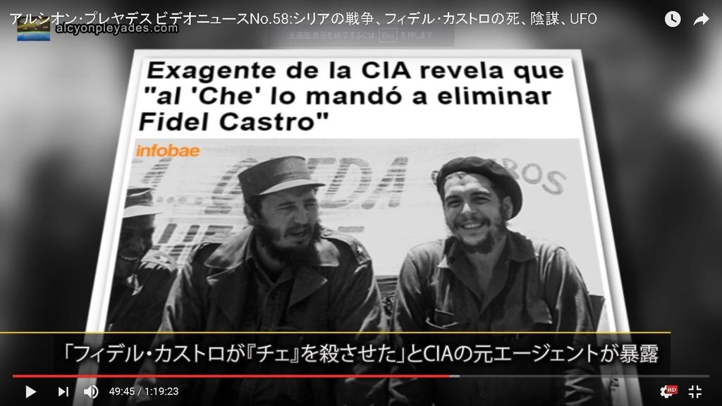 APN58 カストロがゲバラ暗殺CIA暴露
