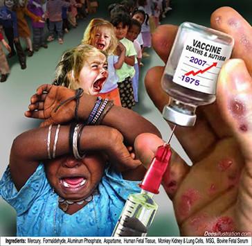 ワクチン泣く子供たち