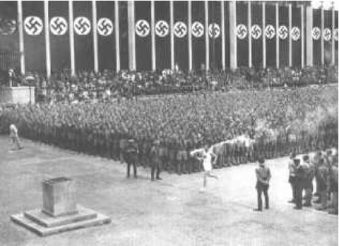 nazis olympic fire