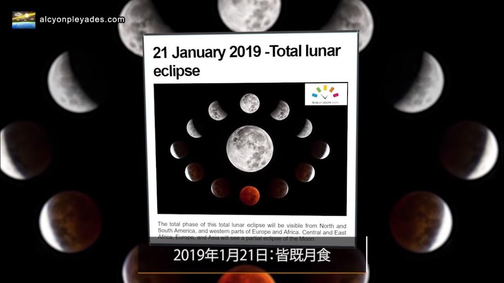 皆既月食2019