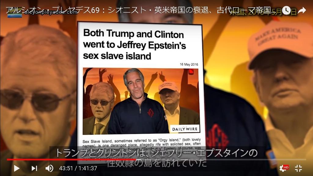 トランプ クリントン 性奴隷島