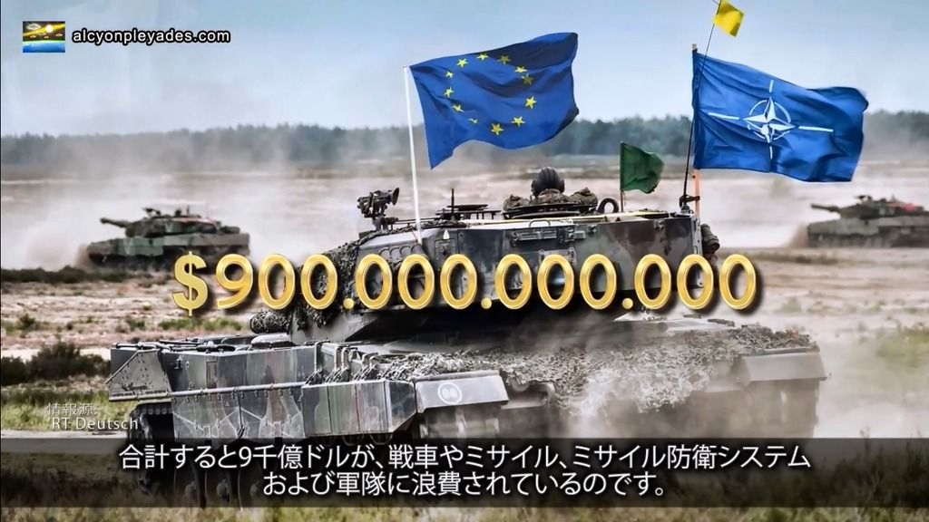 軍事費欧米9千億ドル