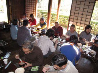 一本杉旧加藤家食事風景