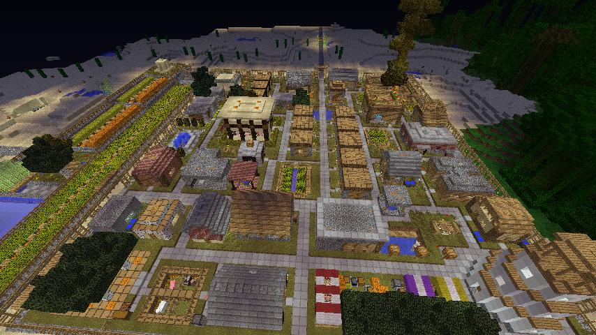 村が隙間なく建造物で埋まりました・・・・! やっとです・・・・・!(´Д⊂)