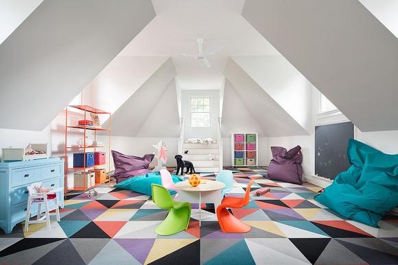 Bright Carpet in the Kids Room 19