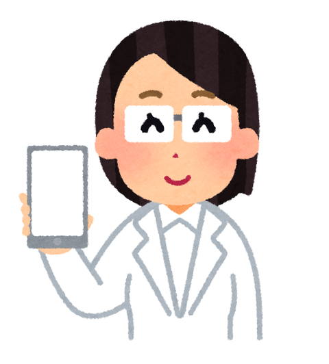 smartphone_blank_doctor_woman