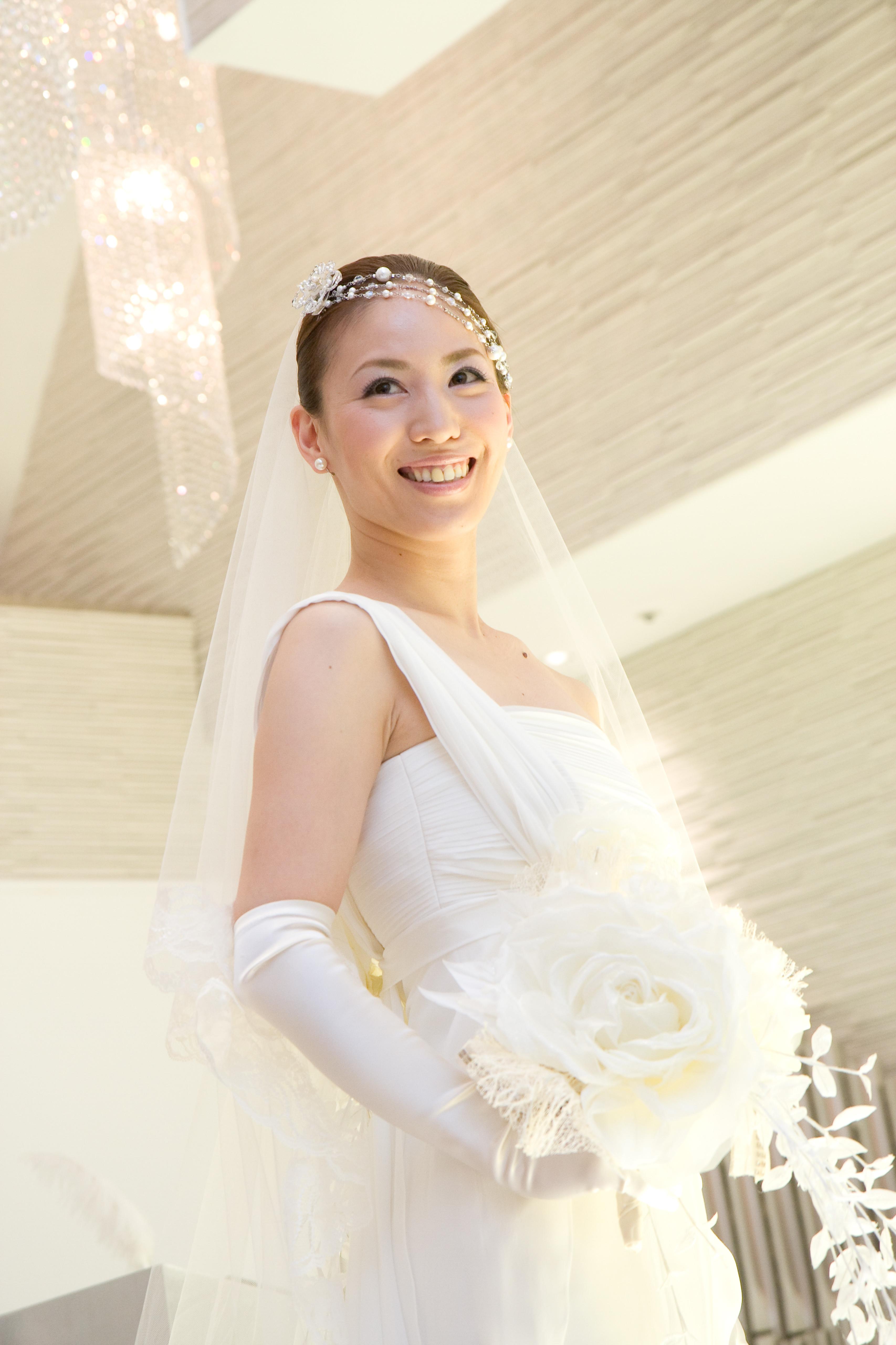 457d81a5455c3  先輩花嫁・モデル事例 ヘッドドレス別・花嫁のヘアスタイル ラリエット・マリアティ…