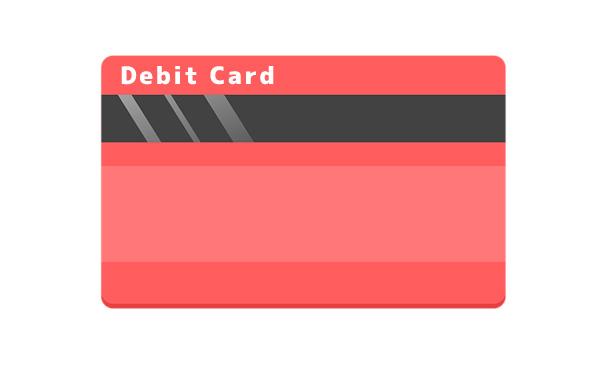 最近はクレジットカードからデビットカードに移行しつつあるよ