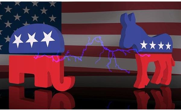 米大統領選、ほぼ拮抗する