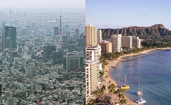 東京で金持ちよりハワイで貧乏暮らしする方が幸せそうだよな