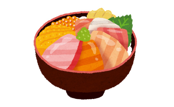 築地場外市場 3500円の大トロウニいくら丼www
